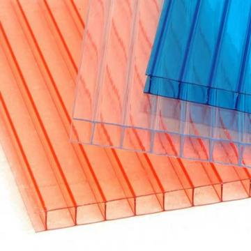Lake Blue Twin-Wall Polycarbonate PC Hollow Sheet for Roofing