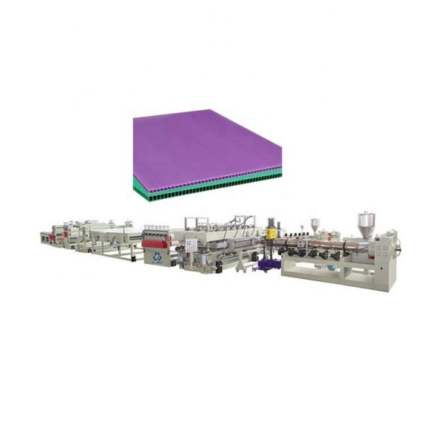 PP hollow sheet production line/pc sheet production line/pc polycarbonate hollow sheet extrusion machine #1 image