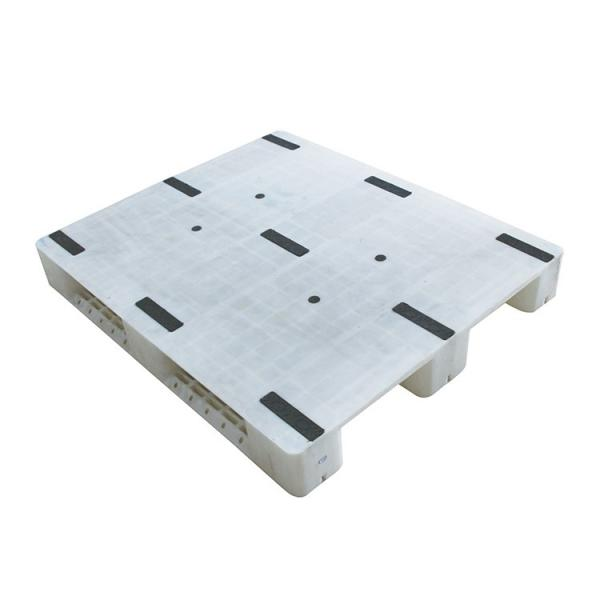 Stackable single faced 9 runners grid euro plastic pallet price #3 image