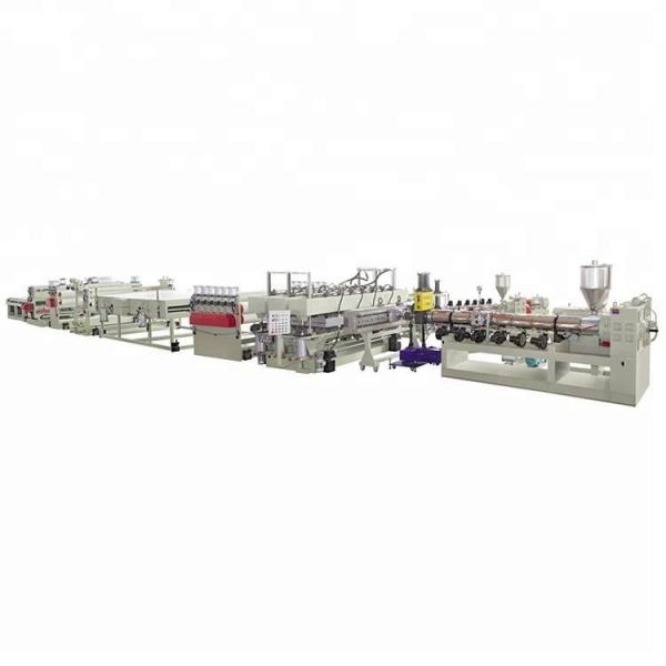 Plastic PP hollow grid sheet extrusion production making machine line #2 image