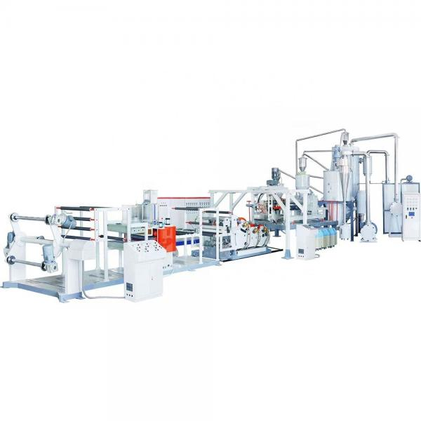 Plastic PP hollow grid sheet extrusion production making machine line #3 image