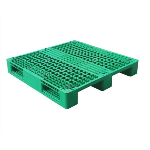 Stackable flat top anti slip large food grade plastic pallet for sale #2 image