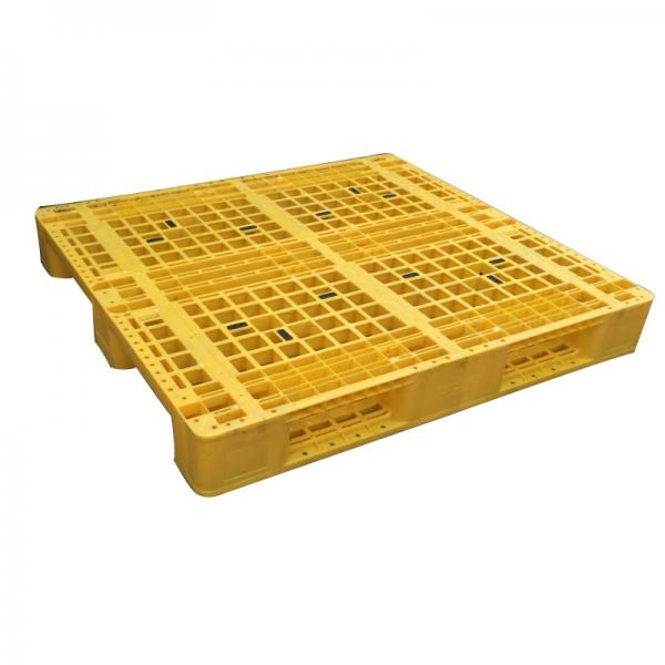 Three Runner Single Faced Edge Stackable Plastic Euro Pallet Price #1 image