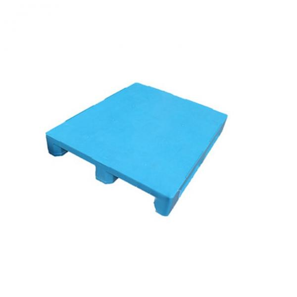 Three Runner Single Faced Edge Stackable Plastic Euro Pallet Price #2 image