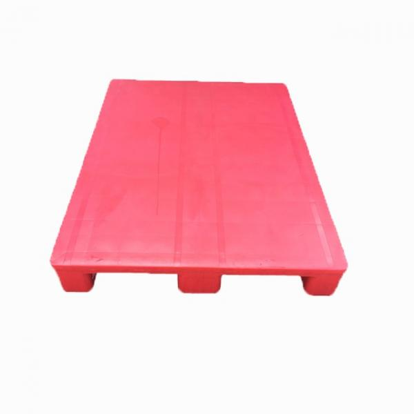 Three Runner Single Faced Edge Stackable Plastic Euro Pallet Price #3 image