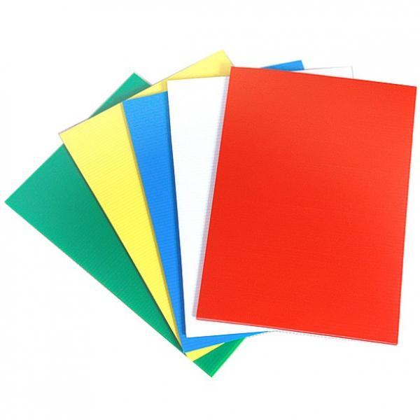 corrugated plastic sheets 4x8 hollow polypropylene correx fluted plastic sheet #2 image