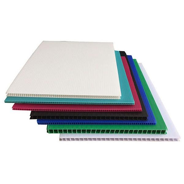 PP corrugated recyclable hollow corrugated plastic sheet #2 image