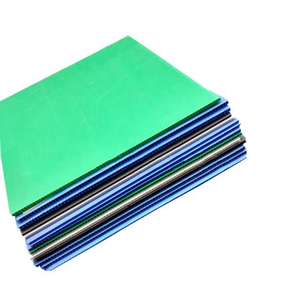 High Wave Hollow Sheet Thermal Insulation Colorful Plastic PVC Wall Sheet for Warehouse #1 image