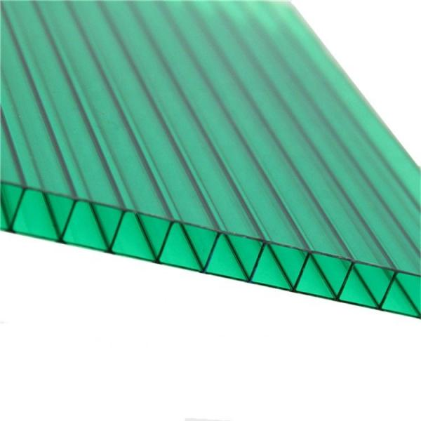 Colored plastic polycarbonate hollow roof sheets #2 image