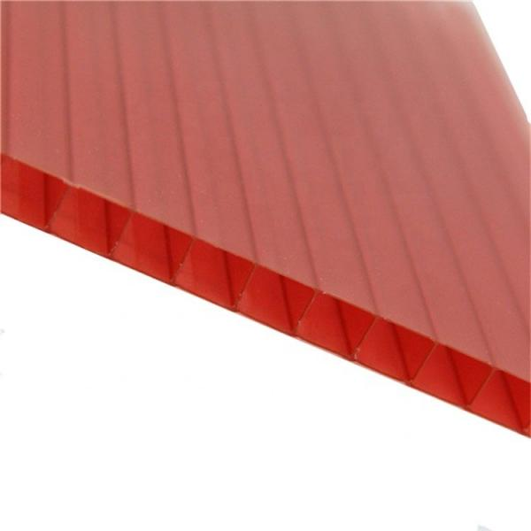 Colored plastic polycarbonate hollow roof sheets #3 image
