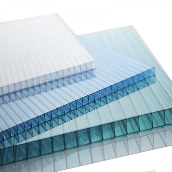 Colored plastic polycarbonate hollow roof sheets #1 image