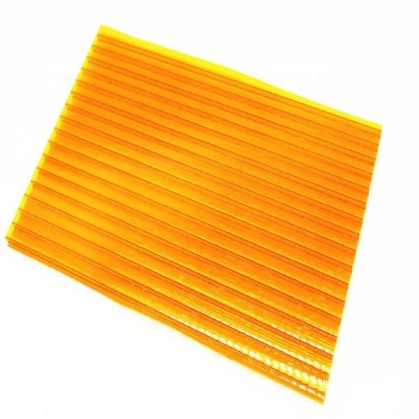 4mm to 12mm Thick UV Coating Clear Hollow Twin Wall Polycarbonate Sheet with Competitive Price #2 image