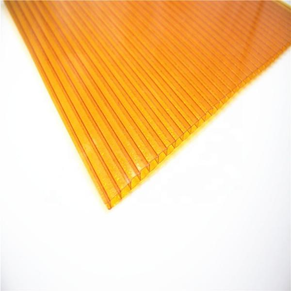 4mm to 12mm Thick UV Coating Clear Hollow Twin Wall Polycarbonate Sheet with Competitive Price #3 image