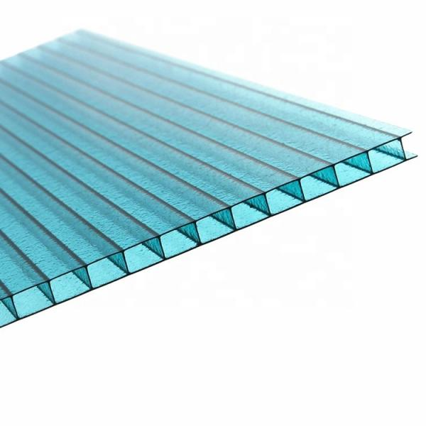 4mm to 12mm Thick UV Coating Clear Hollow Twin Wall Polycarbonate Sheet with Competitive Price #1 image