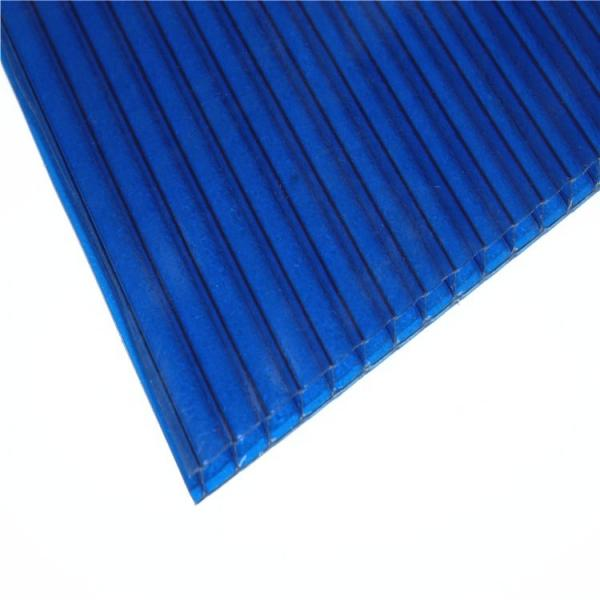 4mm to 12mm Thick UV Coating Clear Hollow Twin Wall Polycarbonate Sheet with Competitive Price #4 image