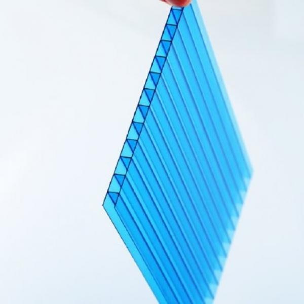 Four Walls Hollow Plank Clear Plastic Polycarbonate Sheets 4X8 #2 image
