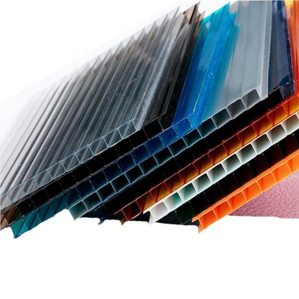Thermal Insulation Colorful Hollow Plastic UPVC Roofing Tile PVC Roof Sheet for Warehouse #3 image