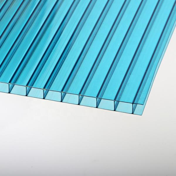 6mm White Twinwall Polycarbonate PC Plastic Hollow Roof Panel Sheet for Bus Station Shelter #1 image